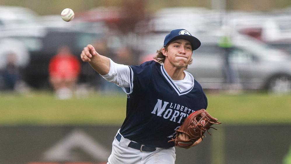 Liberty North baseball against Oak Park in district quarterfinals