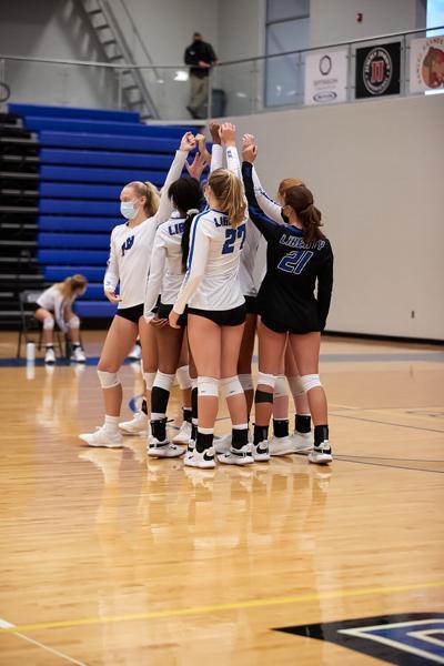 Liberty volleyball wins 9 of 10 matches to finish regular season