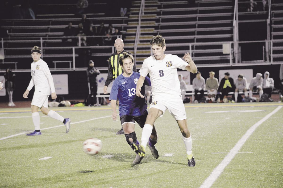 Senthavy's hat trick lifts Liberty into district finals