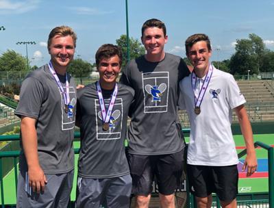 Liberty seniors end tennis season with winning record