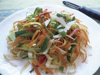 DONNA'S DAY: Try a hand at vegetable ribbon salad