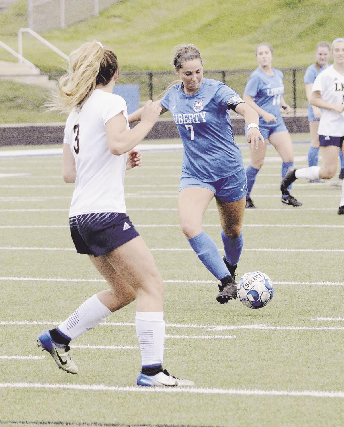 Liberty soccer sweeps regular season series with Liberty North