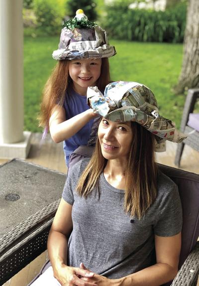DONNA'S DAY: Try making newspaper hats for some summer fun