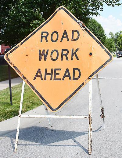 Roadwork stock image