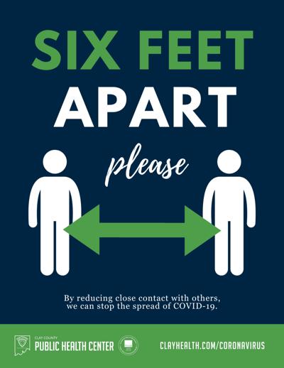 Stay 6 feet apart