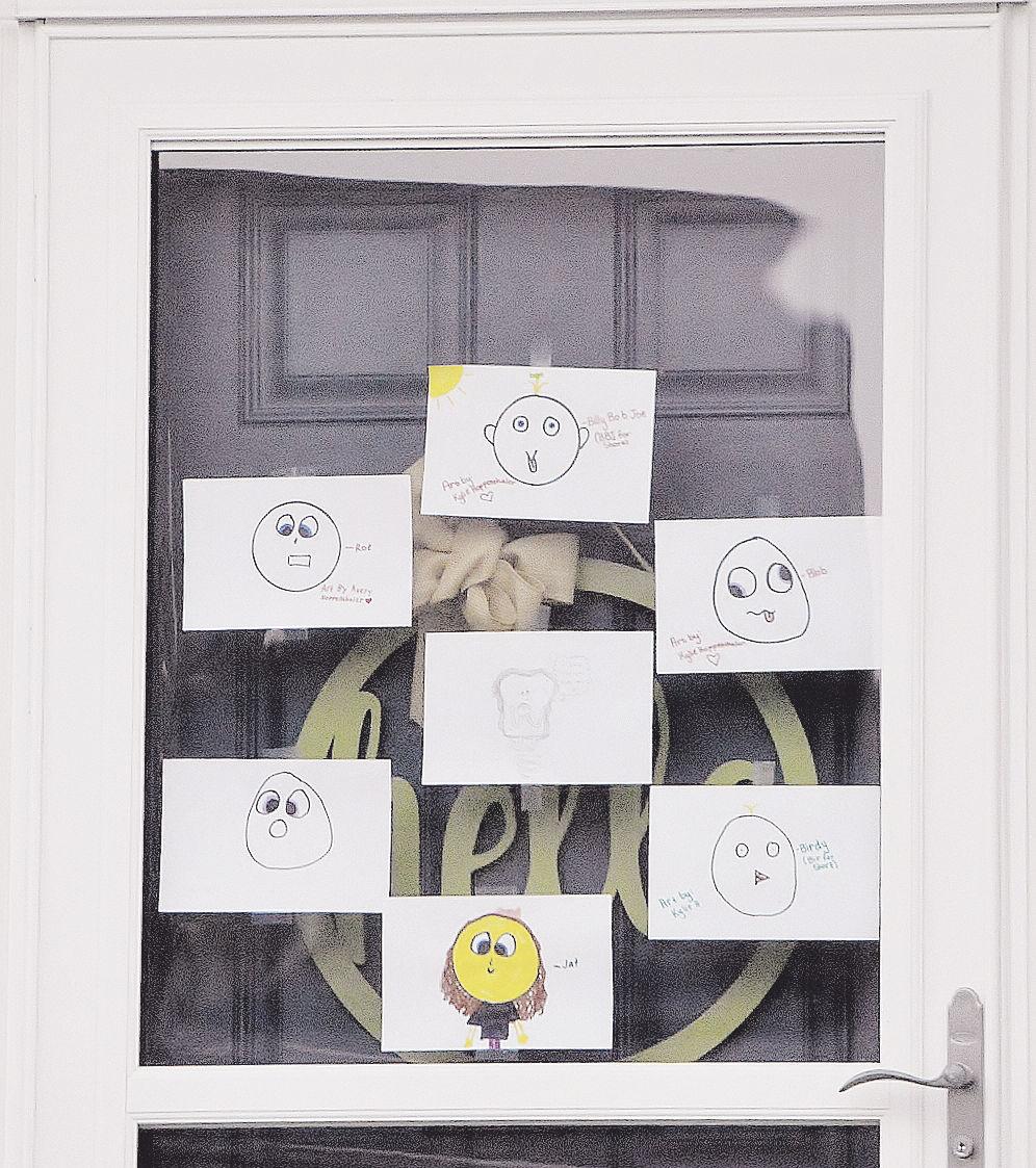 Window art scavenger hunt found at Woodneath Farms