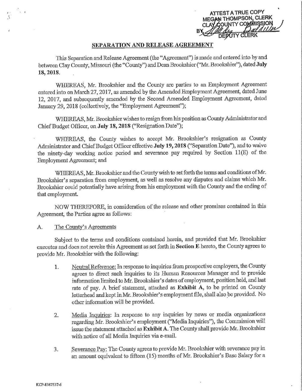 Separation Agreement Mycouriertribune