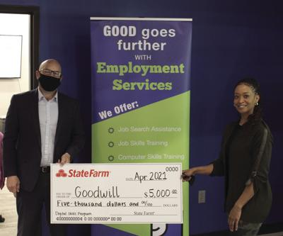 State Farm awards $5,000 grant to Goodwill