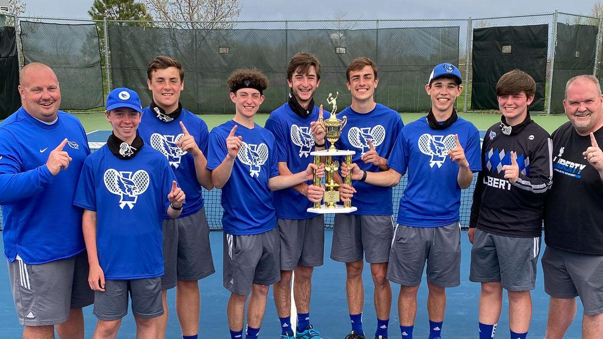 Liberty boys tennis pulls out narrow win over Liberty North
