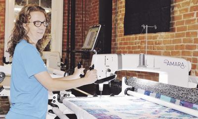 Quilt shop worker finds joy, peace in creativity