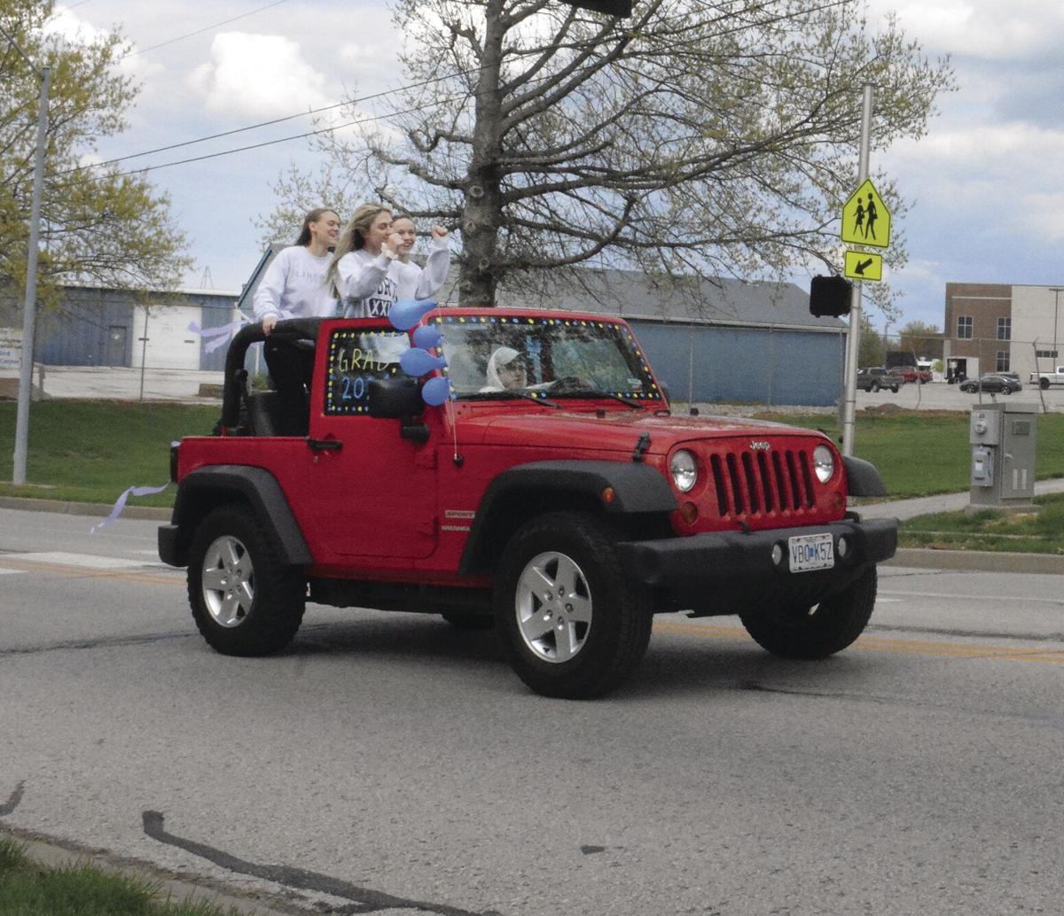 Liberty High's festive autocade 2021