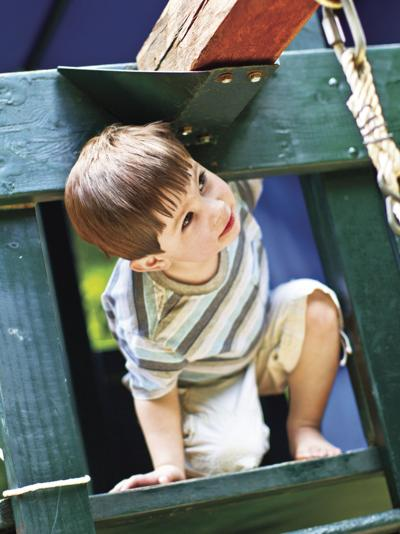 Create safe, enjoyable backyard play areas with safety in mind