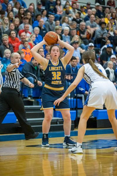 Eagles girls hoops fall to 2-2 after loss to Raytown
