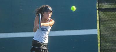 Liberty girls tennis takes 2 of 3 duals to finish regular season