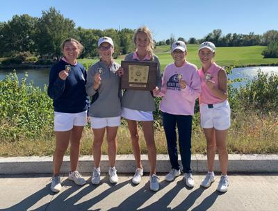 Eagles girls golf win conference with team-record performance
