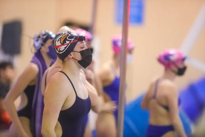 Dillon sets 100 fly school record, Eagles girls swim wins last meet before conference