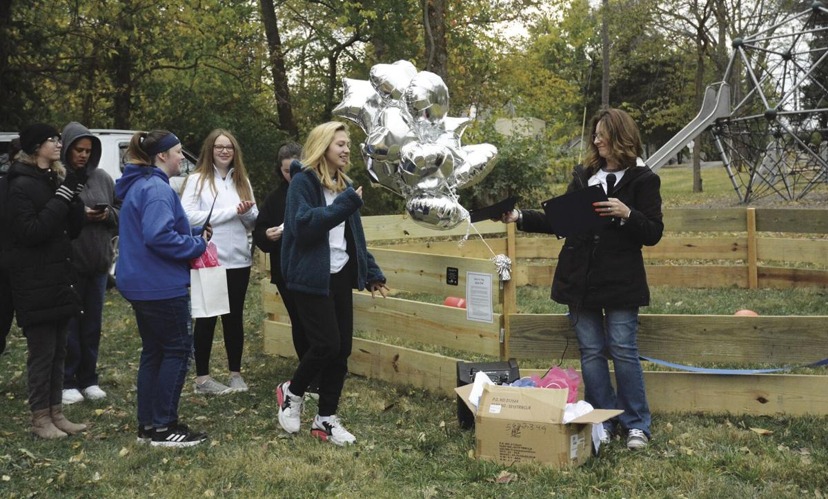 Girl Scout Troop 78 members build ball pit in Arthur's Hill Park for Silver Award