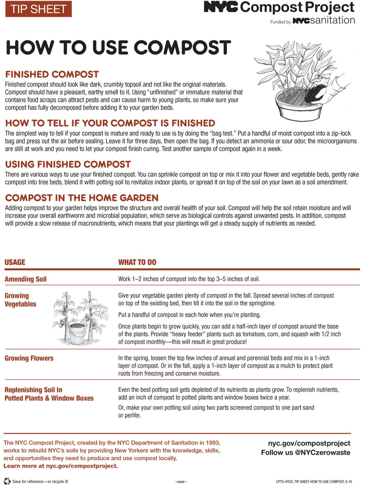 Yard waste helps for productive spring