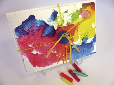 DONNA'S DAY: Create abstract art with melted crayons