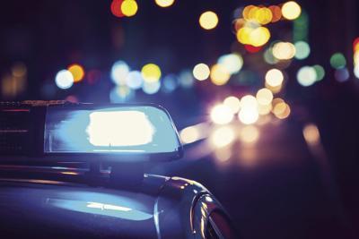 Missouri highway patrol displays blue lights through holiday