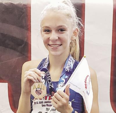 Ellie Maynor places 9th in AAU Junior Olympics