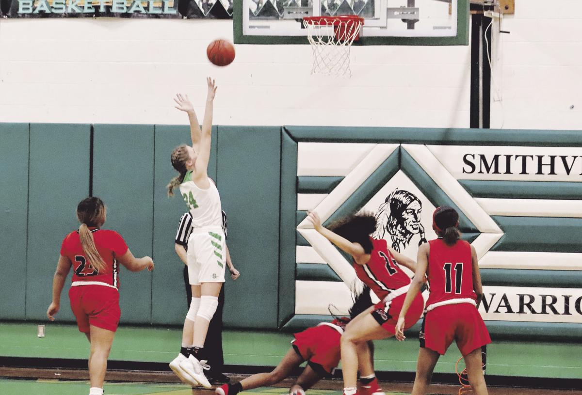 Warriors girls feed hot hand in 56-29 win over Raytown South