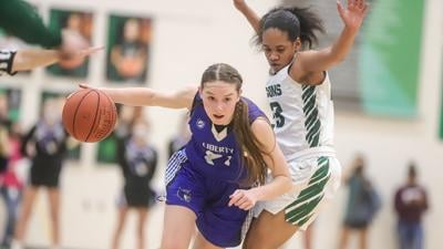 Liberty girls hoops overpowered by Staley in state sectionals