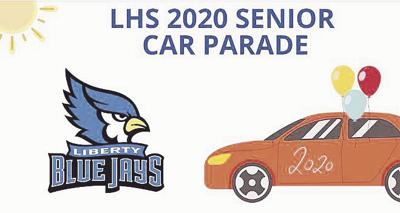 Liberty High School seniors participate in car parade Sunday