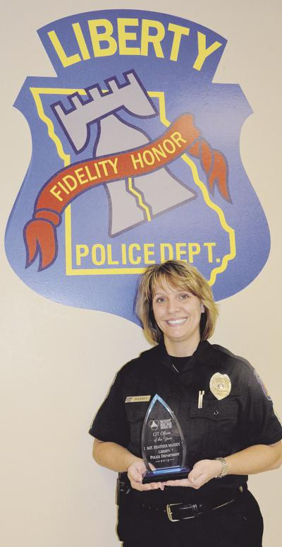 Liberty police sergeant receives award