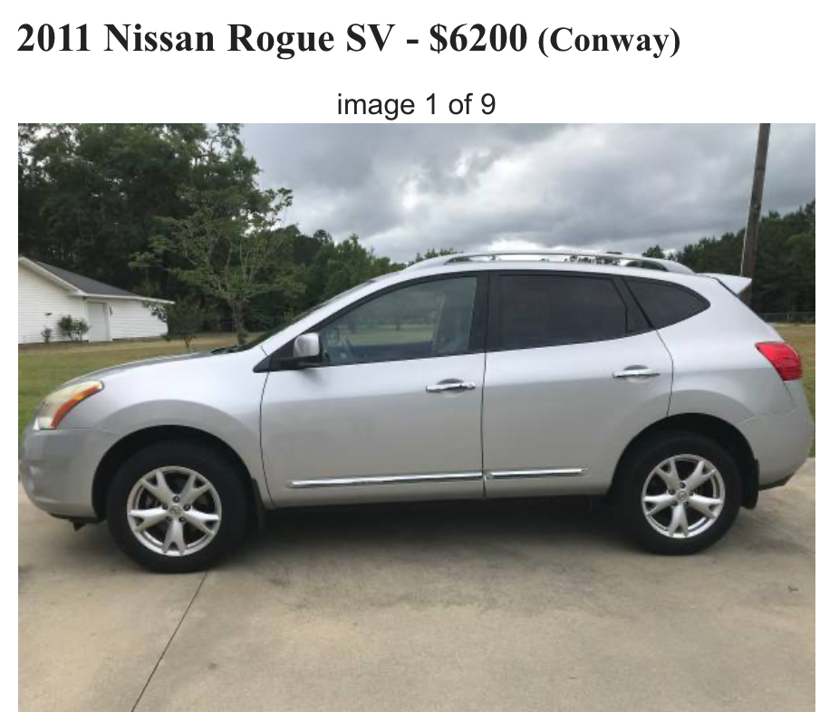 Rogue Nissan for sale image 1