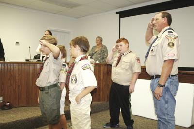 Boy Scouts at Surfside meeting