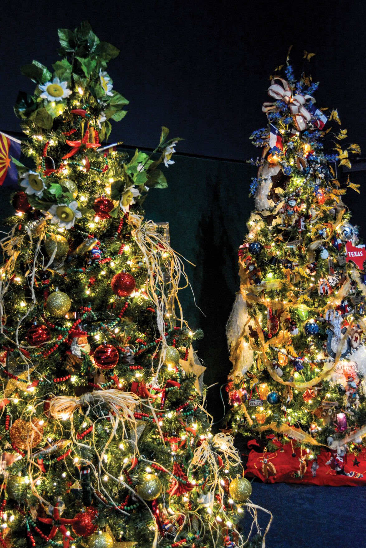 Ripley\'s Aquarium annual holiday display include more than 100 trees ...