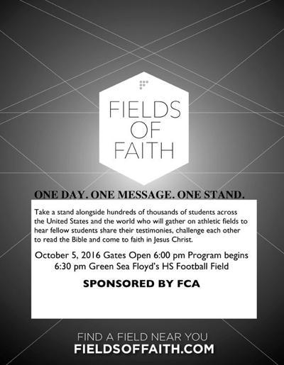 Green Sea Floyds High to host Fields of Faith event | Loris