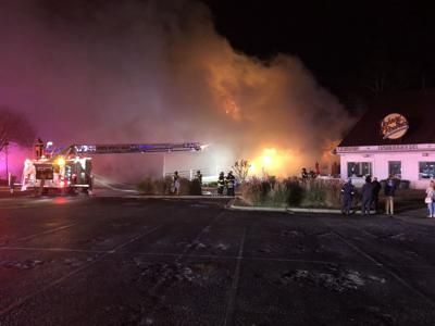 20e4252dd271a A fire ravaged Barefoot General Store early Saturday. Image courtesy of North  Myrtle Beach ...