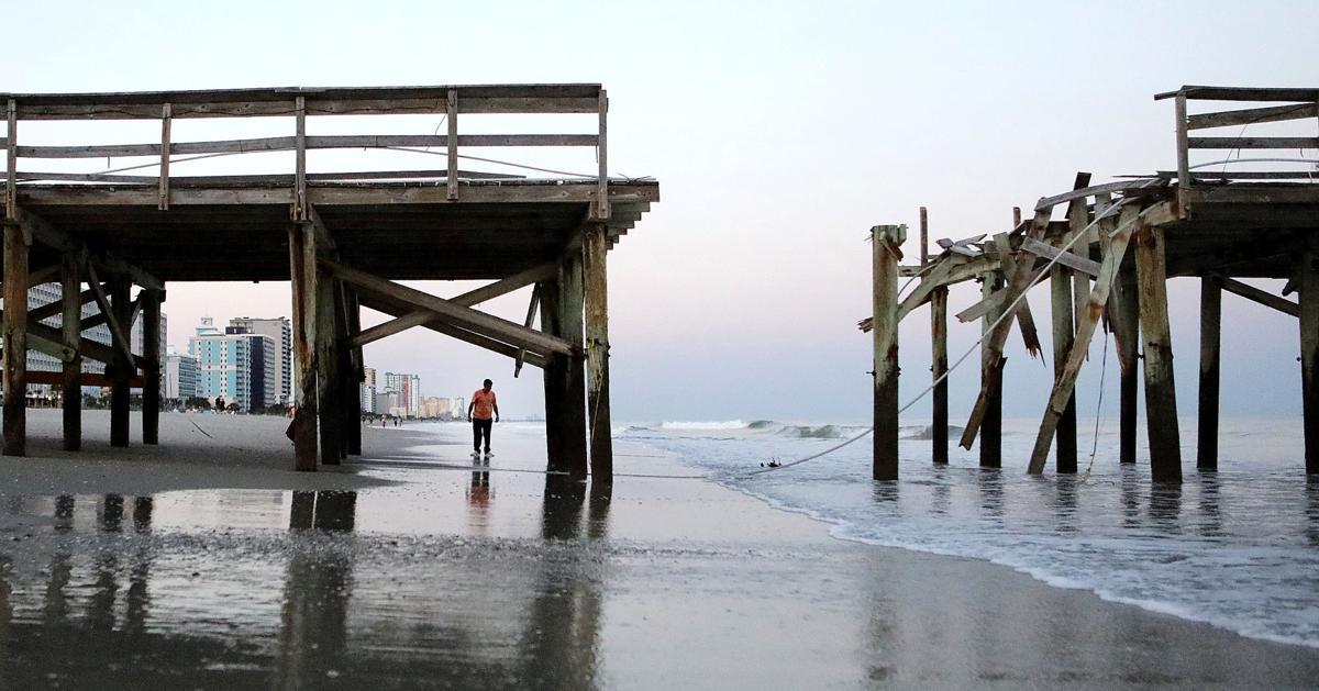 Work Begins On Springmaid Pier News
