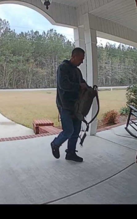 Another shot of suspected porch pirate