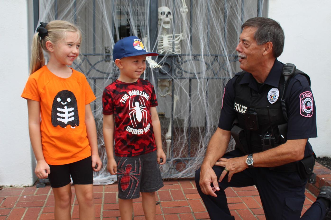 Calhoun with Weis children