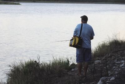 Fishing on Lake Busbee