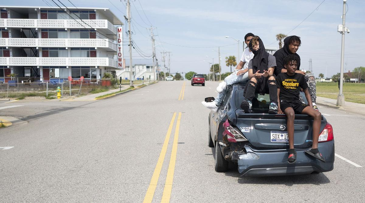 In Myrtle Beach, tourists head home