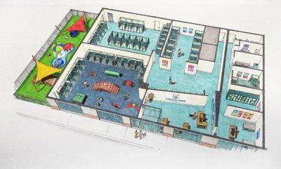 Coastal Paws Pet Resorts interior rendering