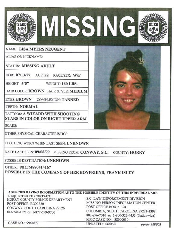 Lisa Myers Neugent missing persons poster