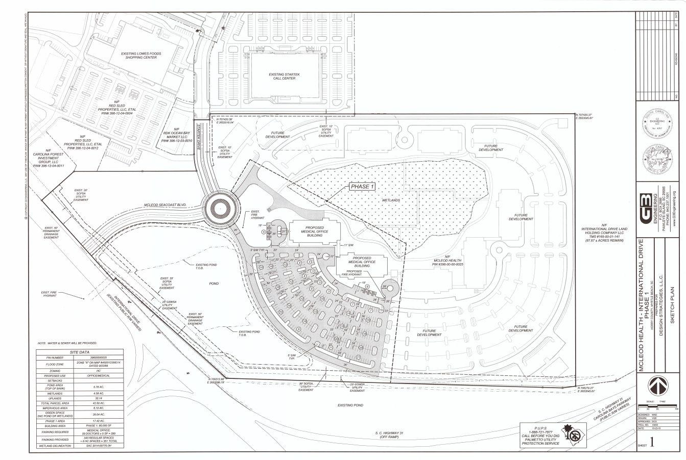 McLeod Seacoast Carolina Forest preliminary site plan
