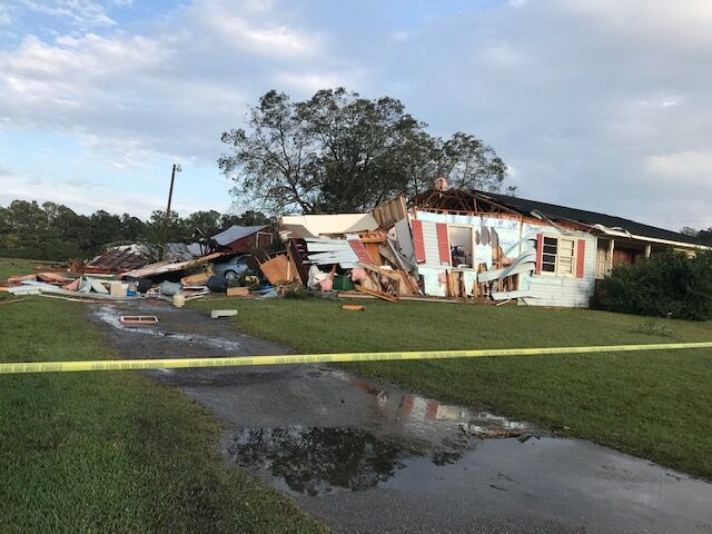 Storm damages Conway area home