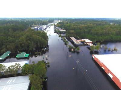 Main Street flooding drone pic