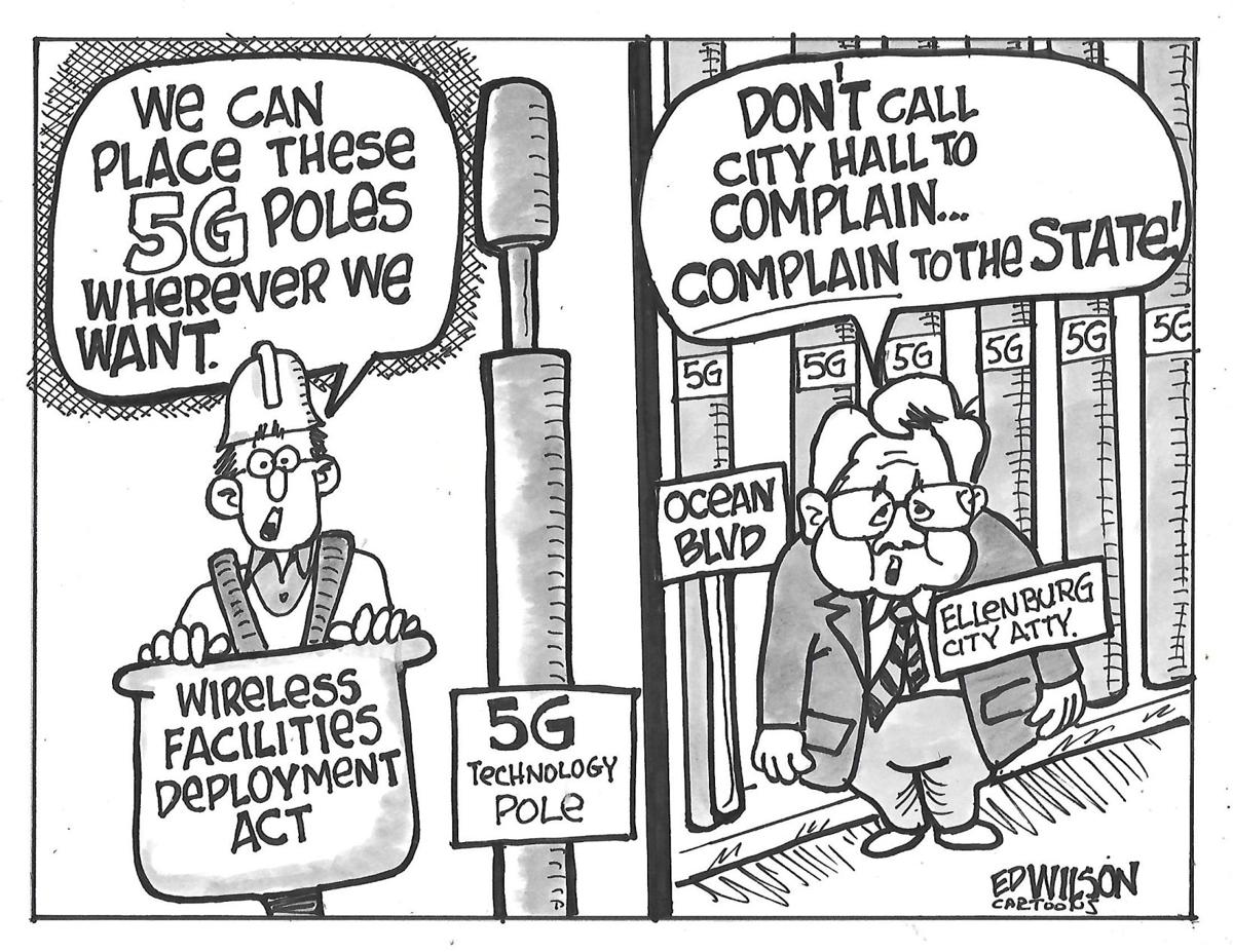 Should cell towers be allowed in public rights-of-way?