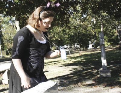 Girl at the graveyard