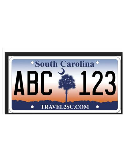 SC License Plate