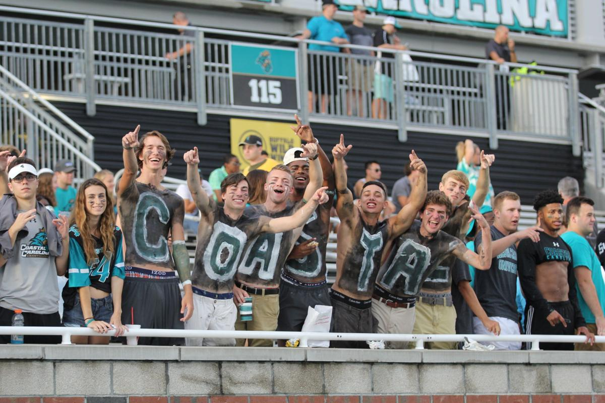 CCU boys in stands