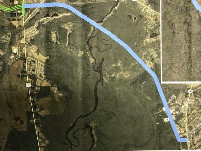 Map of proposed bridge route