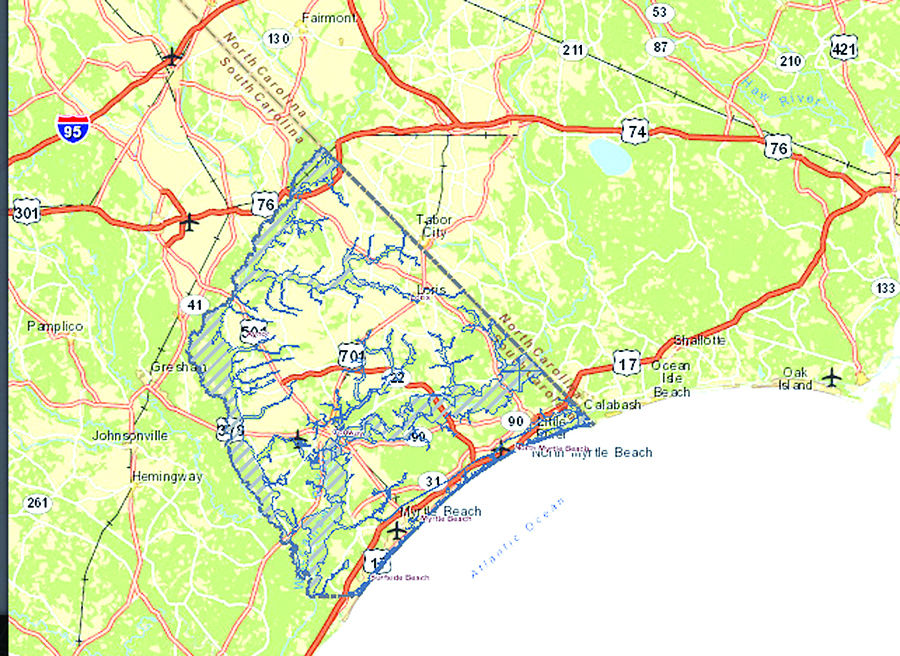 Horry County Officials Dispute FEMA Flood Zone Maps Horry County - Flood line map